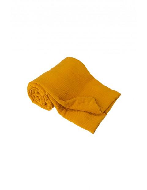 Kocyk muślinowy- pomarańczowy 75x100cm