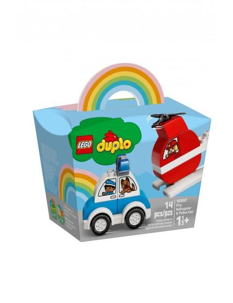 Lego Duplo - Helikopter strażacki i radiowóz- 4 elementów 18msc+