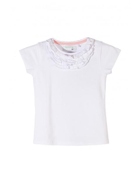 T-shirt dziewczęcy biały 3I3501