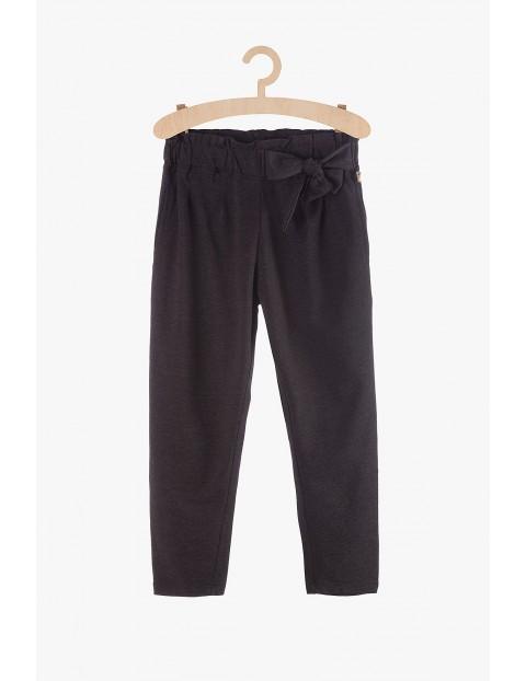 Spodnie dresowe dziewczęce szare z kokardą