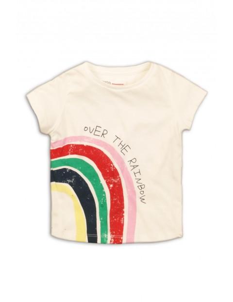 T-shirt niemowlęcy ecru z tęczą