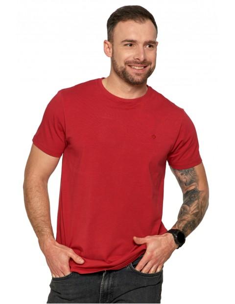 Klasyczny T-shirt męski idealny do casualowych stylizacji- bordowy