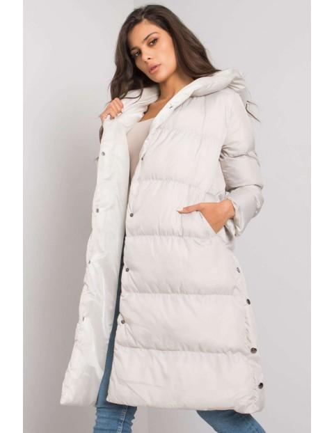 Kurtka damska zimowa z kaptura - biała