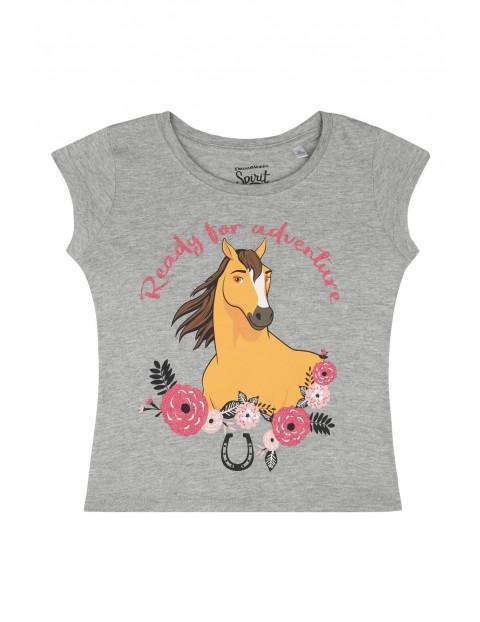 Bawełniany t-shirt dziewczęcy Spirit