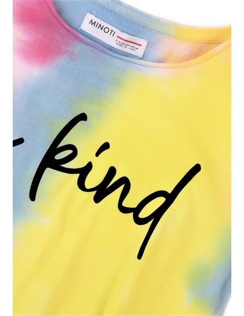 Bawełniany kolorowy t-shirt dziewczęcy