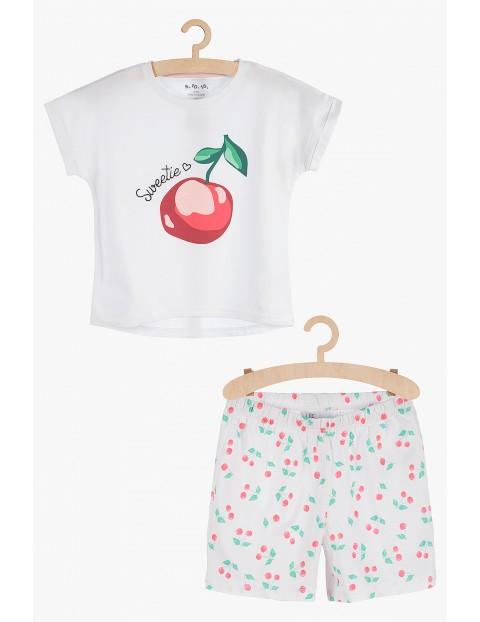 Pidżama dziewczęca w wisienki