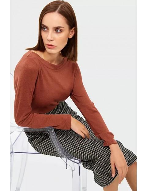 Sweter damski -brązowy