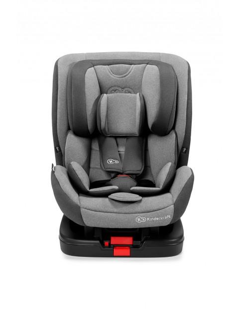 Kinderkraft Fotelik samochodowy dla dzieci Vado 0-25 kg, RWF 0-18 kg ISOFIX szary
