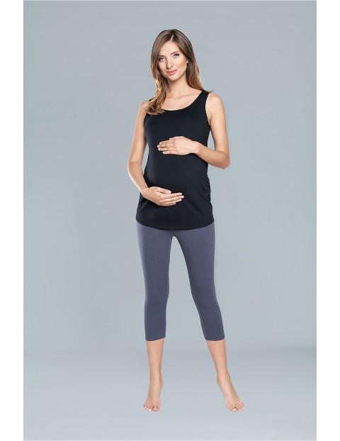 Koszulka damska ciążowa EWELINA szerokie ramiączka - czarna