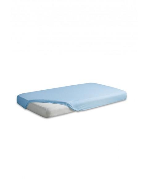 Prześcieradło do łóżeczka jersey 60x120cm - błękitne