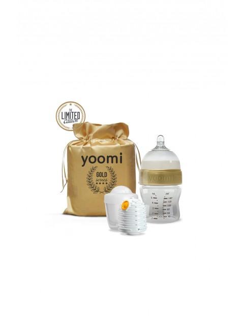 Zestaw Yoomi Gold&Black podgrzewacz - kapsuła i butelka 140ml