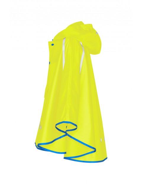 Poncho przeciwdeszczowe składane do torebki żółte