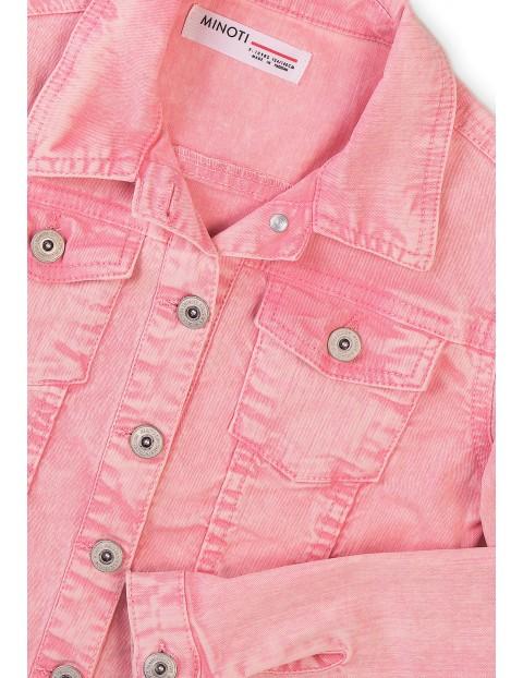 Różowa kurtka jeansowa dla dziewczynki