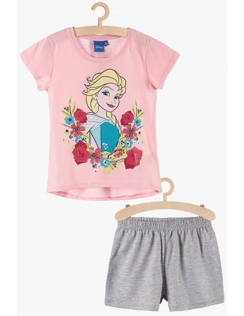 Pidżama dziewczęca Frozen różowo-szara