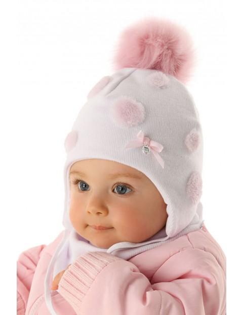 Czapka wiązana dla niemowlaka 5X35A9