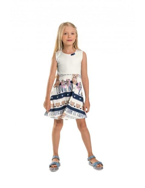 Sukienka dziewczęca z misiami
