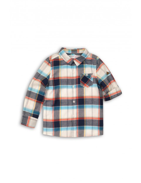 Koszula chłopięca tkaninowa w kratę