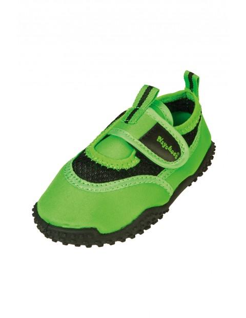 Buty kąpielowe zielone na rzep