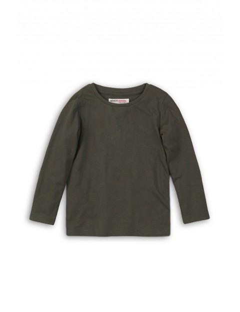 Dzianinowa bluzka dla chłopca- szara