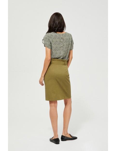 Spódnica z wiązaniem - oliwkowa