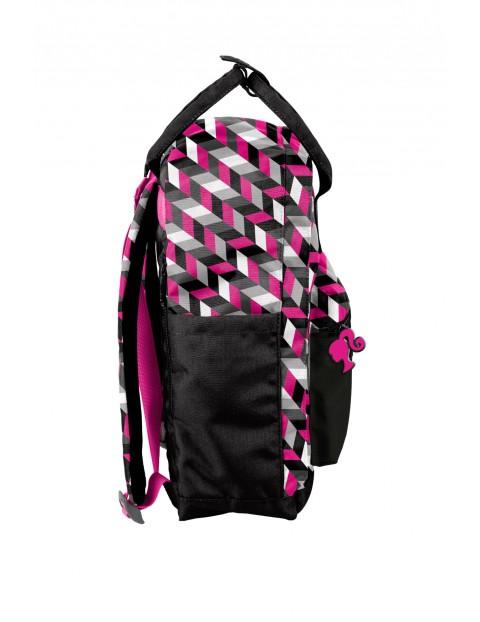 Plecak młodzieżowy PASO Barbie czarno-różowy