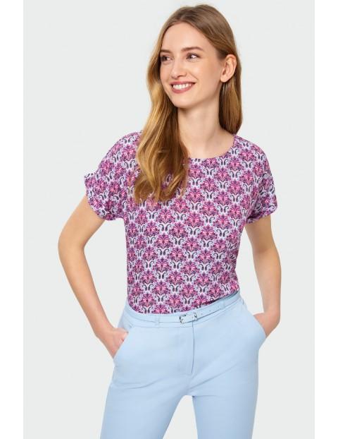 Wiskozowa bluzka damska z nadrukiem