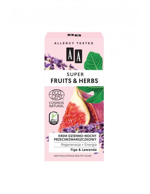 AA Super Fruits&Herbs krem dzienno-nocny przeciwzmarszczkowy regeneracja + energia NATURAL 50 ml
