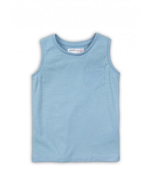 Koszulka na ramiączka dla niemowlaka - błękitna