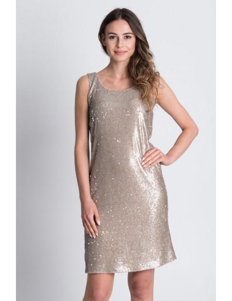 Srebrna sukienka na ramiączkach