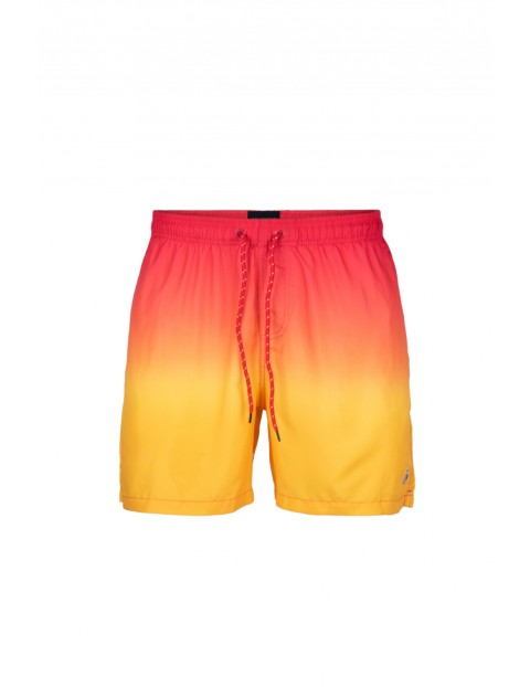 Szorty plażowe męskie z wodnym nadrukiem Atlantic  - pomarańczowe