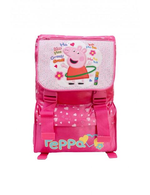Plecak dziewczęcy szkolny utwardzone profilowane plecy Świnka Peppa