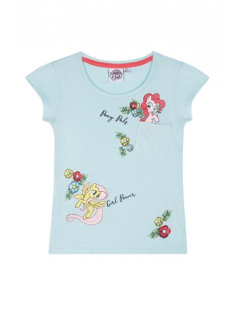Koszulka dziewczęca Kucyki Pony-niebieska