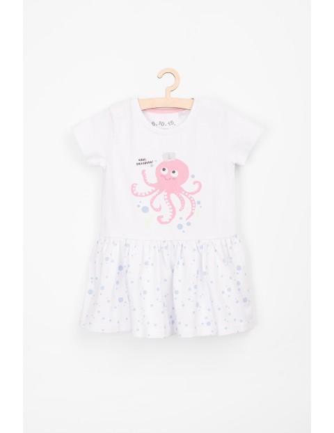 Sukienka bawełniana dla niemowlaka- ahoy przygodo