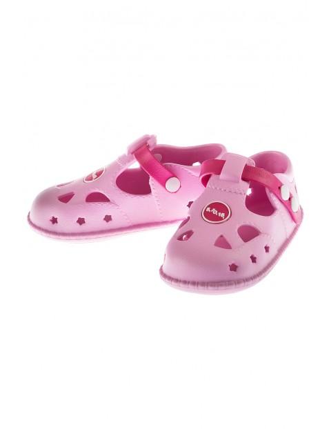 Sandały dziewczęce- różowe