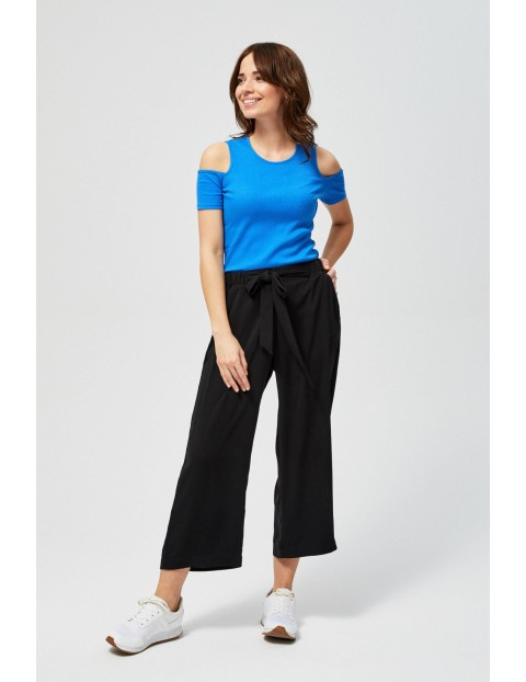 T-shirt damski typu cold arms-niebieski