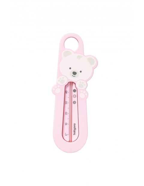 Termometr do wody różowy Miś