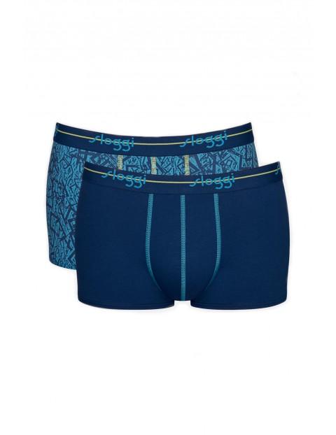 Bokserki męskie Start Hipster - 2 pak - niebieskie