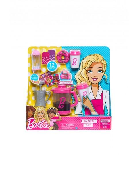 Barbie zestaw baristy 12elementów