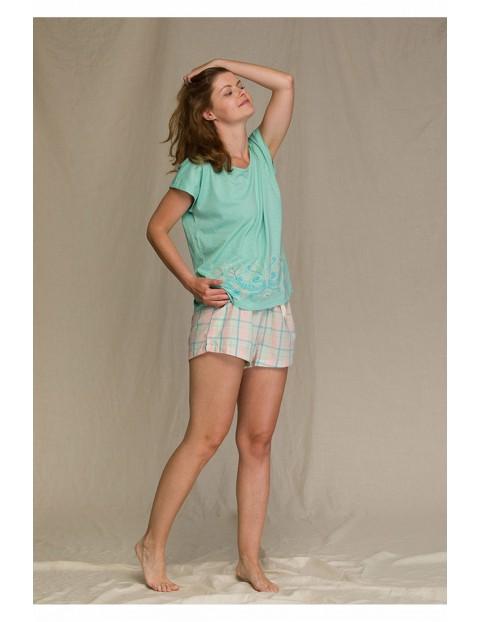 Wiosenna piżama damska w kratę