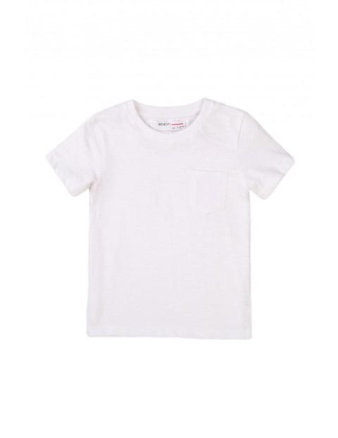 Bawełniany T-shirt niemowlęcy biały