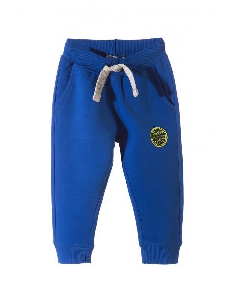 Spodnie dresowe dla chłopca- niebieskie
