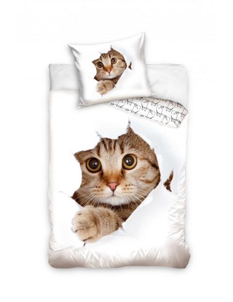 Pościel bawełniana dla dziecka Kot 140x200cm
