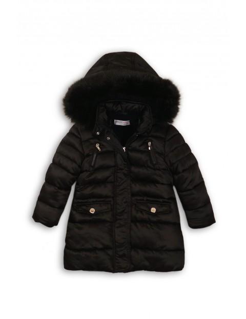 Kurtka dziewczęca- czarny płaszczyk