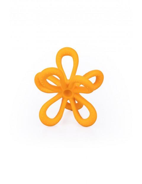 Gryzak uspokajający kwiatek GiliGums - żółty - 3 msc+