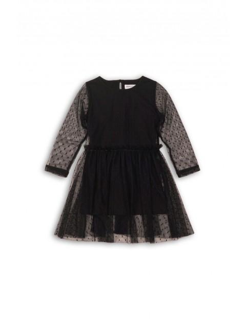 Sukienka dziewczęca tiulowa 4K35AB