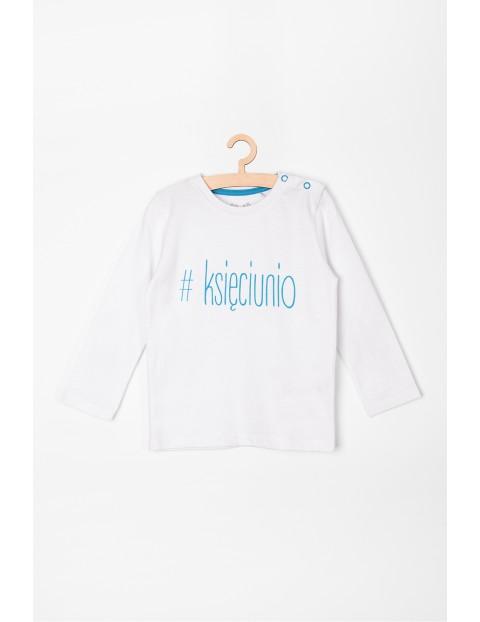 Bluzka niemowlęca z napisem #księciunio