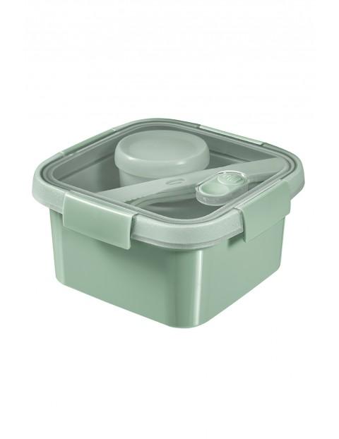 Pojemnik na żywność kwadratowy LUNCH KIT Curver 16 x 16 x 9 cm - zielony