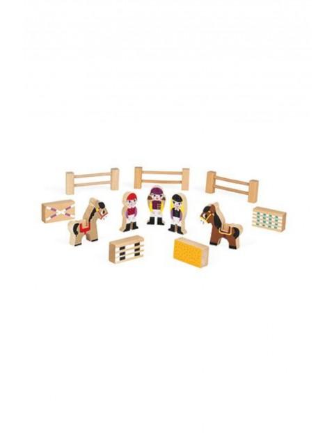 Koniki zestaw drewniany 12 elementów kolekcja Story Janod