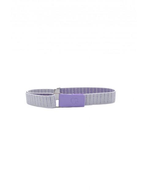 Pasek dziewczęcy - fioletowy 60 cm