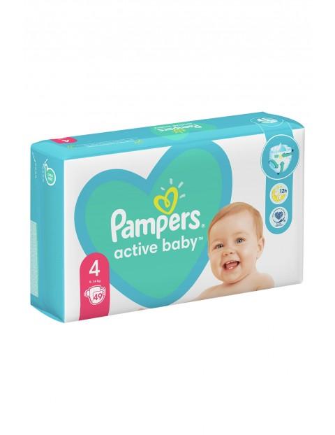 Pampers Active Baby, rozmiar4, 49pieluszek, 9-14kg
